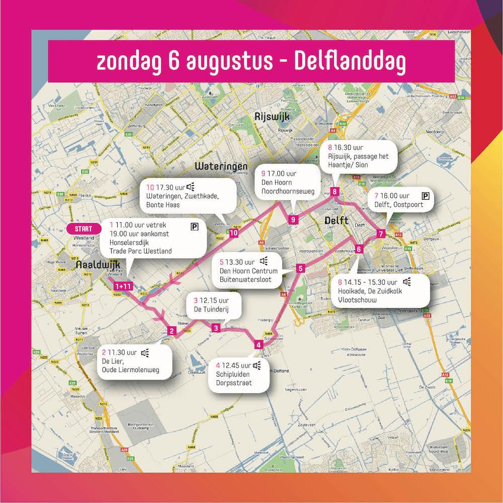Route zondag Varend Corso